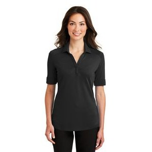 Port Authority® Silk Touch™ Ladies Interlock Performance Polo Shirt