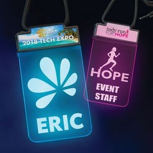 Lighted Badge� - 2 Imprint Locations