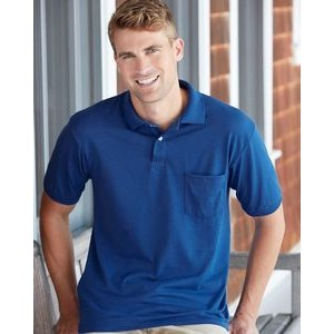 Hanes® EcoSmart® Jersey Sport Shirt with Pocket